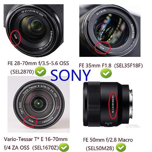 2 Pack 55MM Center Pinch Lens Cap for Nikon D3400 D5600 AF-P 18-55mm//Canon EOS EF-M 18-150mm 11-22mm//Sony DSC-HX400 HX300 55mm Lens