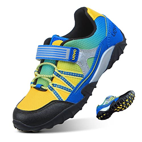 QANSI Boys Tennis Shoes Comfortable Waterproof Little Kids Athletic Sneakers Running Hiking Shoes Size 2 Little Kid