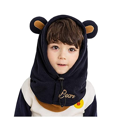 Xinqiao Baby Girls Boys Winter Hat Earflap Mask Hood Scarf Skull Cartoon Caps