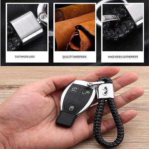 VILLSION 2Pack Genuine Leather Car Logo Keychain for BMW Keyring Accessories Key Chain