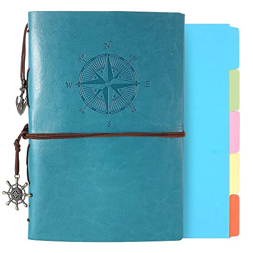 Buy Leather Journal Refillable Notebook Vintage Spiral Bound