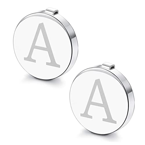 Best Choice for Weddling Gift HAWSON Rose Gold Letter Button Cover Cufflinks for Men Initial and Impressing Alphabet A-Z