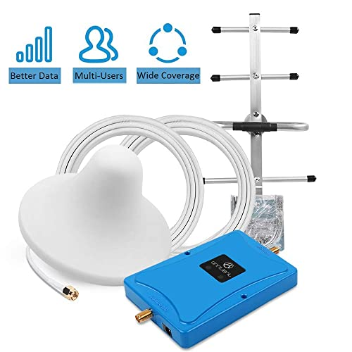 Boost Mobile Phones Voice /& Data Signal by Multi-Band Cellular Repeater Amplifier Kit with Ceiling//Yagi Antenna Up to 3,000Sq Ft Cell Phone Signal Booster for Home All Carriers 3G 4G LTE