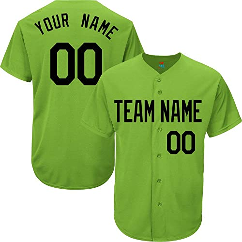 Design Your Own Hunter Green Custom Baseball Jersey for Men Women Youth Full Button Embroidered Team Name /& Numbers S-8XL
