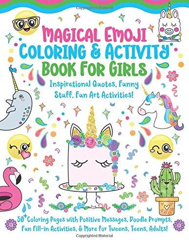 Magical Emoji Coloring Activity Book For Girls Inspirational Quotes Funny Stuff Fun Art Activities 50