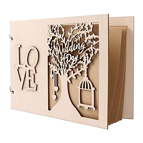 Wedding Travel Child/'s Retro Photo Album with DIY Accessories Kit and Gift Box Upgraded Our Adventure Book Scrapbook Faux Wood Photo Album .Pixar Up Handmade DIY Family Anniversary Scrapbook 80 Pages