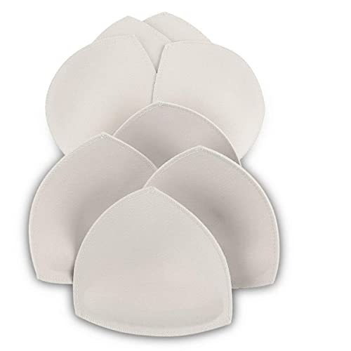 Bra Inserts 4 Pairs,Sermicle Bra Pads Sewed Stitched Removable for Sports Bra B//C /& C//D Cup Optional