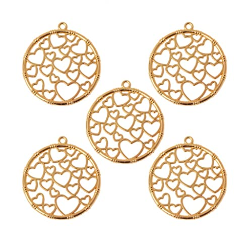 Misright 5 Pack Open Bezels Charms Pendant Blank Frame Pendant Open Back Bezel Pendant Blanks for UV Resin Crafts//Jewelry Making