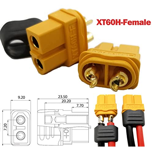 Tmalltide Electric Motors /& Parts XT60 Plug Male Female Connector With 150mm For