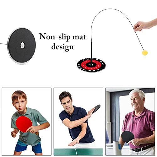 Elastic Soft Shaft Table Tennis Paddles for Beginners Kids Adult Family Play Facilities Bivan Table Tennis Trainer Training Equipment Kit for Children