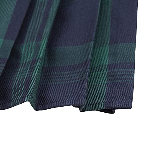 b0a7c7ab532067 PrevNext. PrevNext. Women's Tartan Elastic Pleated Plaid Skirts Schoolgirls  Mini A-line Skirt Cosplay Costumes