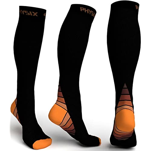 fit for Running Nurses Cambivo Compression Socks for Women /& Men Flight Enhance Circulation /& Speed-up Muscle Recovery Travel Crossfit Pregnancy 20-30 mmHg Athletic Sports