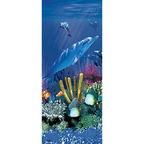 Designed for Steel Sided Above-Ground Swimming Pools 25 Gauge Virgin Vinyl 48-to-52-Inch Wall Height Overlap Style Smartline Antilles Dolphin 12-Foot Round Liner