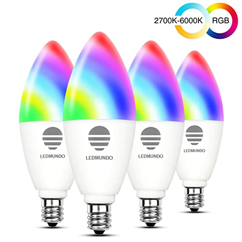 Smart Light Bulb GU10 Led Bulb Dimmable Tunable White RGB Color Changing Smart Bulb Compatible with Alexa Google Home IFTTT 320 Lumens 4 W 4 Pack