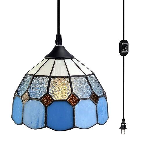 1-Light Pendant Lighting POPILION Vintage Simple Style Polygon Adjustable Cord Hanging Ceiling Gold Pendant Light