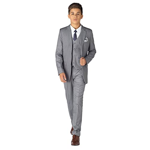 Page boy Suits Slim fit Suit Boys Check Suit 1-14 Years Paisley of London Boys Navy Suit