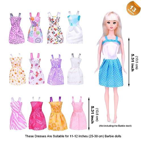 108 Accessories 123 Pcs Barbie Doll Clothes 13 Dresses 2 Handmade Dresses