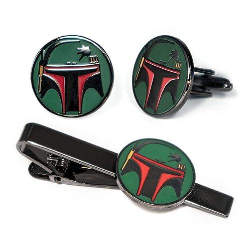 Buy SharedImagination Boba Fett Cufflinks, Star Wars Tie