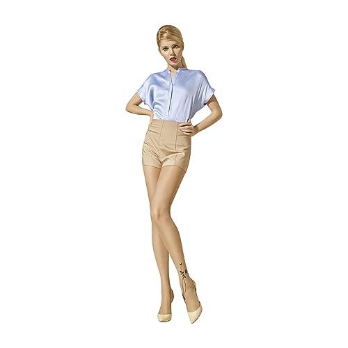 15 Denier Womens Fashion Hosiery Sheer Tights without Oppression in Waistline