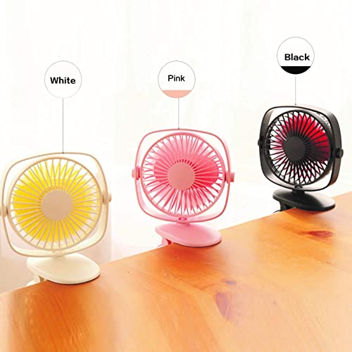 Baby Stroller Car Backseat Personal Battery Operated Clip on Fan,TEMPO Mini Portable Rechargeable USB Fan for Table Desk Outdoor Camping-Pink Travel