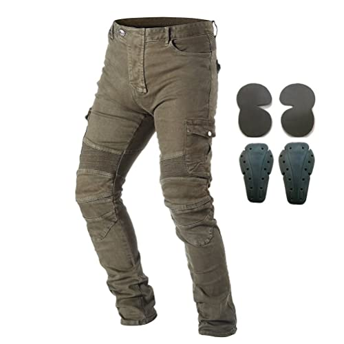 Waist 31.5 S- Mens Motorcycle Jean Pants Protection Lining Motorbike Trousers with 2 Pair Protect Pads Jeans Blue Colour