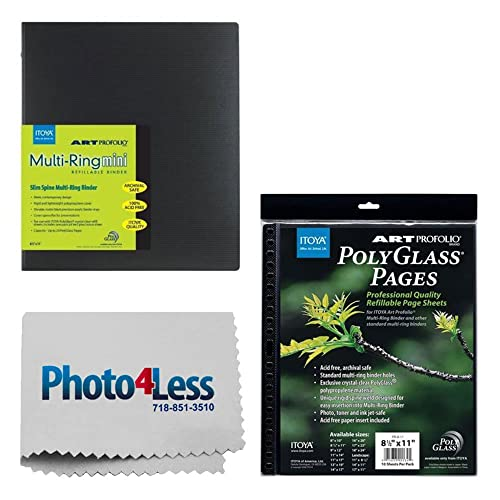 Itoya ProFolio PolyGlass Pages 17 x 11 10 Pieces Itoya Profolio-MultiRing Refillable Binder 17x11 Landscape Scrapbook Emoji Skickers