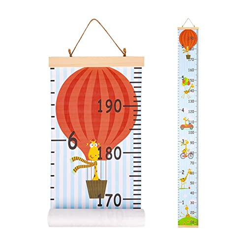Choice Of 3 Bright Designs Measures From Birth To Adult Kids Rule Alphabet Plastic Roll-Up Height Measuring Chart