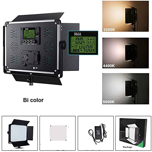 PE-920 Daylight All Set Portrait Light with Battery//Charger//AC Adapter Professional LED Bi-Color Slim Studio Lighting,Ultra Thin Studio Edge Flapjack Light