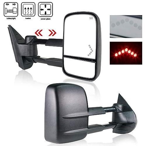 Dynamic LED Signal Power Heated Tow Mirror Fits 03-07 Chevy Silverado GMC Sierra