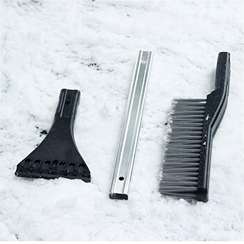 "Durable Aluminum Body Vehicle Comfortable Foam Grip Detachable Scraper Snow Moover 24/"" Snow Brush with Ice Scraper 1 Pack Soft Bristle Head No Scratch Car or SUV Window /& Windshield Tool"