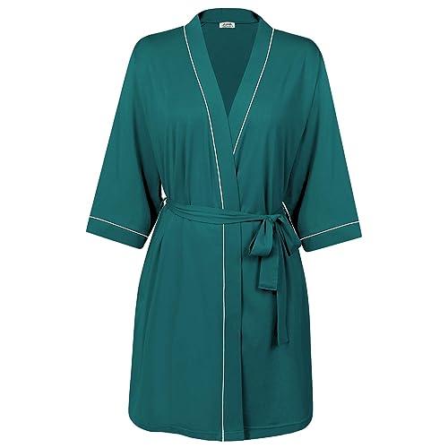 Navy, Small Great Knot Hotel Quality 100/% Cotton Waffle Bath Robe Kimono