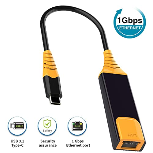 Thunderblt 3 Network To RJ45 Convert Adapter Plus And Play USB Type C Ethernet Cable Compatible With Mac Book,iPad,Samsung,Google And More Gray USB C To Ethernet Adapter Ethernet To USB C