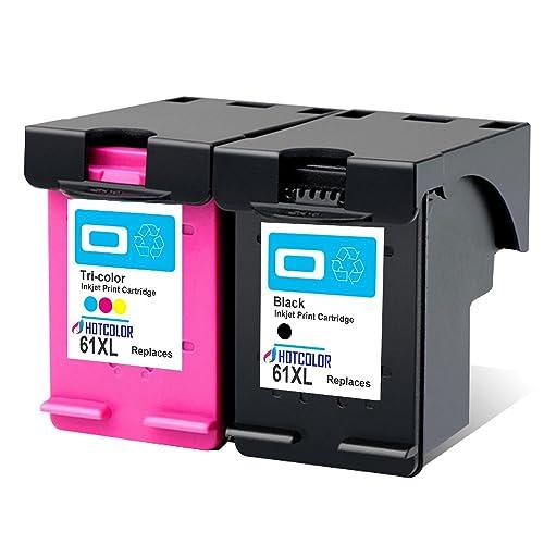 BJ Remanufactured Ink Cartridge Replacement for HP 61 XL 61XL for HP Envy 4500 5530 5534 5535 OfficeJet 4635 4630 2620 DeskJet 1000 1056 1512 2514 2540 2 Black,1 Color