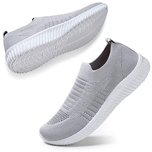LADIES LACE UP KNET MESH COMFORT TRAINERS GYM SPORT SNEAKERS SLIP ON PUMPS 3-8