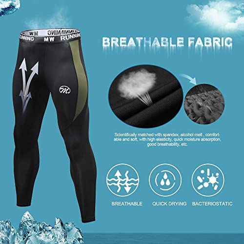 Mens Sports Workout Compression Fitness Running Base layer Tights Pants Cool Dry