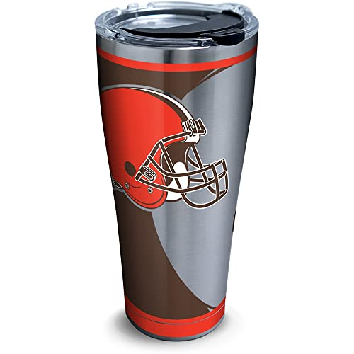Silver Tervis 1299907 Stainless Steel Tumbler With Lid 30 oz