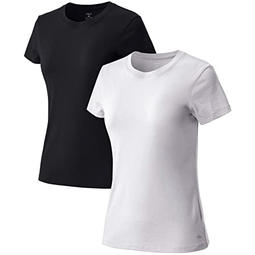 TSLA Womens Workout Shirts Dry Fit Wicking Short Sleeve Shirts Active Sports Running Exercise Gym Tee Shirt