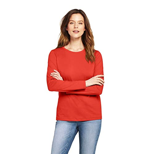 4f697fff0776 Buy Lands' End Women's Supima Cotton Long Sleeve T-Shirt - Relaxed  Crewneck, XL, Zesty Orange with Ubuy Kuwait. B07GL77KN8