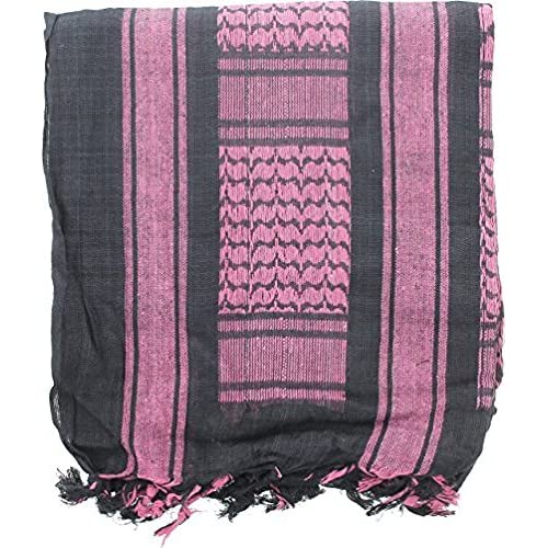 100/% Cotton Arab Military Shemagh Headscarf Keffiyeh Sniper Face Veil Purple