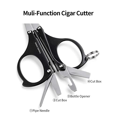 GERMANUS Cigar Punch Cutter Double Black Metal