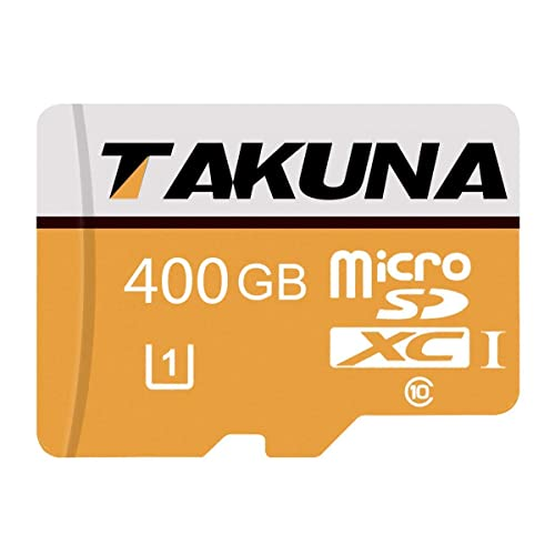 Tablets and Other Compatible Devices Designed for Android Smartphones 400GB Micro SD Card High Speed Class 10 SDXC with Free SD Adapter 400GB