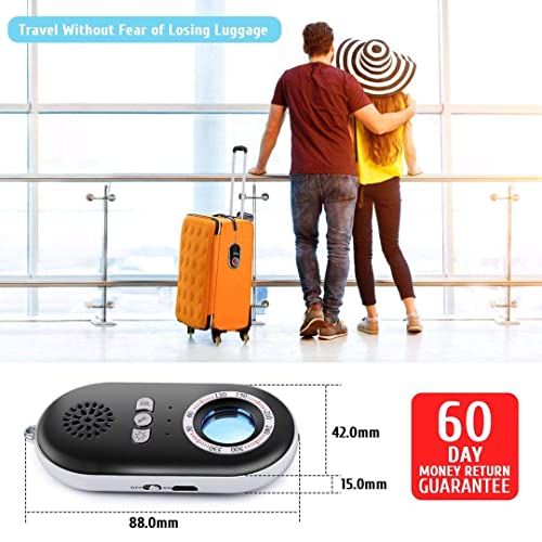 Anti-Spy Hidden Camera Detector Infrared Portable Safesound Personal Alarm 3-in-1 Functionality Defense Emergency Alert with Mini LED Flashlight for Home Hotel Travel Suitcase Security Box