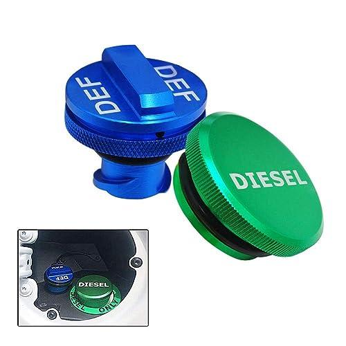 Aluminum Fuel Cap,Diesel Fuel Cap for Dodge(Strong magnet) Magnetic Green Diesel Fuel Cap for 2013-2018 Dodge Ram Diesel Trucks 1500 2500 3500 /…