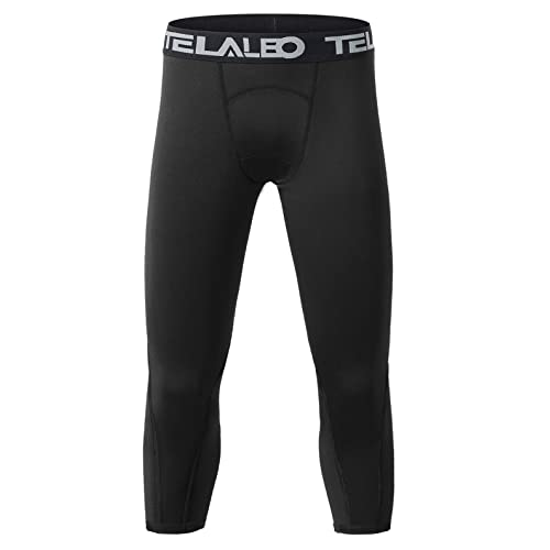 Willit Youth Boys Compression Leggings Sports Tights Running Basketball Soccer Leggings Baselayer Pants