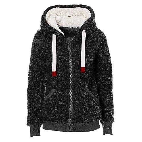 0e72ac1ba Buy Women Warm Fuzzy Coat Faux Fleece Wool Hoodie Sherpa Jacket Zip Up  Outerwear Top with Ubuy Kuwait. B07H8GCSP7