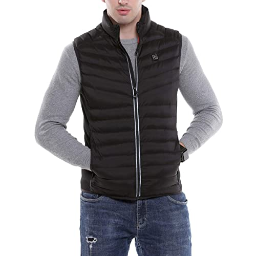 Sidiou Group Electric Heated Vest USB Heating Vest Adjustable Temperature Heated Clothing Down Jacket Vest Men Heated Gilet Rechargeable Gilet Package Not Include Power Bank