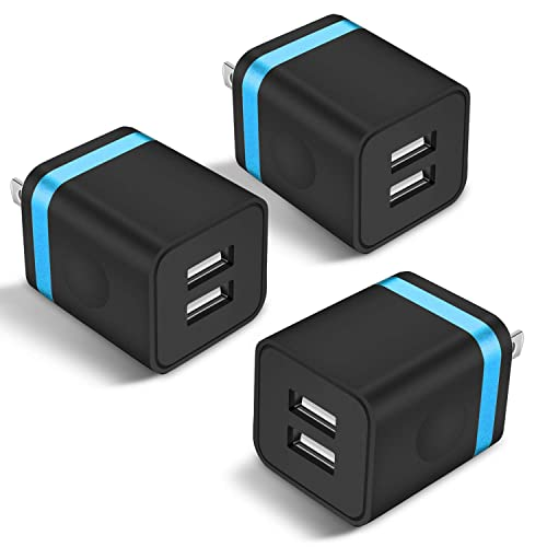 Samsung S10 S10 Plus S10e S9 S8 Motorola LG Sony HTC Android Smart One Port Wall Charger,2 Pack Ehoho 1A Single Port USB Charging Block Cube Compatible for iPhone XR XS Max 8//7//6S Plus SE//5S//5C