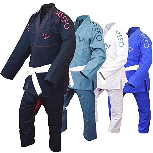 BJJ Gi For Men in Black By Bravo with Preshrunk fabric /& Free White Belt