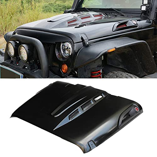 ZGAUTO The Avenger Style for Jeep Wrangler Hood Vents Fits for 2007-2017 Jeep Wrangler JK JKU Unlimited Rubicon Hood
