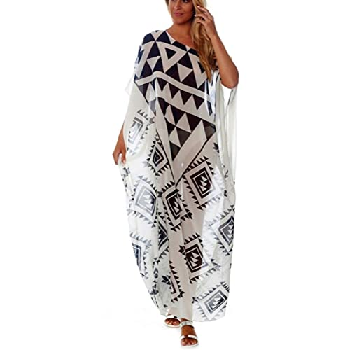 CAT Feline Sun Animal Print Kaftan Caftan Cool  Beach Cover Dress Long Ladies